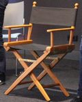 Een regisseursstoel