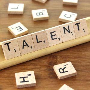 Het woord 'Talent' in scrabble