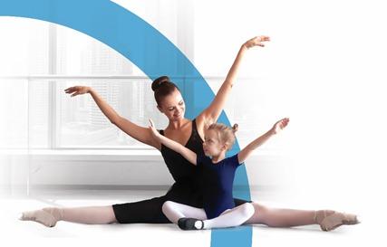 Plaatje van moeder en dochter die met ballet bezig zijn