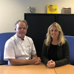 Emmanuel Mylanus en Wendy Huinck van de afdeling KNO van het Radboudumc